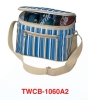 Cooler bag for 6 cans from 300x300D polyester stripe with long-time cold-keeping function