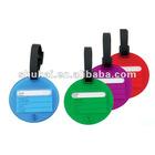 fashionable mini pvc luggage tag ,eco-friendly plastic bag tag