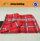 Printed polar fleece throw blanket/ wholesale/cheap blanket?100% polyester blanket/check fleece blanket