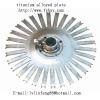 titanium dish galvanization part