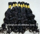 Wholesale human hair indian virgin bulk hair/VIRGIN HUMAN HAIR BULK - VIRGIN HAIR/Raw hair/ virgin human hair/double drawn REMY