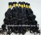 Wholesale human hair indian virgin bulk hair/VIRGIN HUMAN HAIR BULK - VIRGIN HAIR/Raw hair/ virgin human hair/double drawn REMY