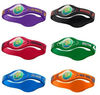 colorful silicone power bracelet with own logo