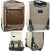 Canvas & Genuine leather trolley case for all 12 with carry handles, travel trolley bag, luggage bag