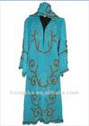 2012 Long Georgette Ladies Silk Kaftans with Beadwork Hss-153
