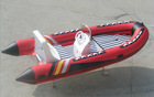 red Inflatable RIB Boat