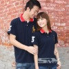 100% black color couple designing polo tee shirt