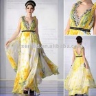 2011 New Arrival V-neck Printed Fashion Dresses for Prom 30329/MOQ 1PC