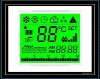 Highlight white character on green background LCD Display