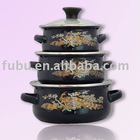 enamel casserole sets with dark color
