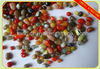 red mixed color small glass pebbles