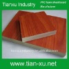 Wood grain surface finished pvc foam board