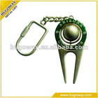 2012 Hotsale zinc alloy divot golf tee marker/golf clip