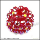 Wholesale purple Resin Rhinestone Charms Ball Spacer Pave Beads Wholesale 110019