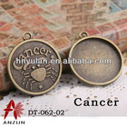Cancer Cabochon Metal Setting For Crystal 12 constellation