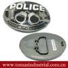 plain design police handcuffs belt buckles for men