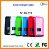 Manufacturer design rechargeable portable solar charger silicone case for Iphone4/4s with CE,ROHS,FCC