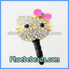 Wholesale Cartoon Pink Hello Kitty 3.5mm Ear Cap For Phone Dustproof Jack Plug Anti Dust Accessories MDP-M06A