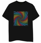 Rainbow design flash EL LED t-shirt
