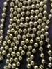 Plastic Bead Chain, 5mm Diameter golden bead