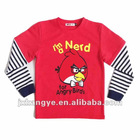 2012 hot sell 100% cotton cartoon kids t-shirt