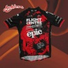 sublimated polyester fabric full zip cycling jerseys