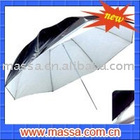 two-double detached white-black umbrella reflector