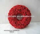 artificial rose wreath for wedding decoration