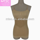 Seamless camisole with spaghetti strap and fishnet for lady