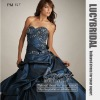 Elegant Ball Gown Sweetheart Appliques Pick-ups Taffeta Prom Dress PM517