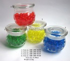 deco water beads and vases