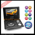 7 Inch Portable DVD Player with Swivel Screen, Analog TV, Copy and FM function