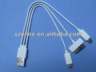 NEW ARRIVAL!!! 3 in 1 USB Cable MINI USB/MICRO USB/iPHONE USB