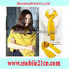 2012 New Women Cotton Autumn Warm Solid Color Long Scarf Shawl Wrap Yellow SL00233Y