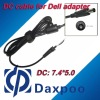7.4*5.0 laptop power dc cable for Dell adapter