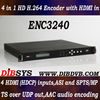 Four channel HD H.264 IPTV Encoder with HDMI inputs,IP/ASI outputs