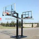 Height adjustable outdoor basketball stands