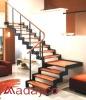 wood steel staircase