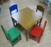 (W-G-1081) wooden colorful kids table