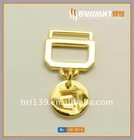 2011 fashion gold metal key chain pendant