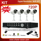 4CH HD 720P network complete ip surveillance nvr kits