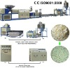 PE flakes double stages recycling granulator