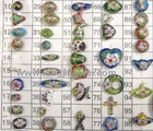 various shapeds and styles cloisonne beads (002)