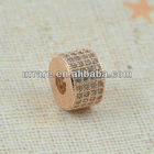 Factory Directly Sale! Rose Gold Alloy Rhinestone Paved Beads