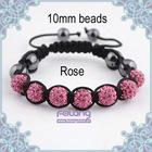 rose crystal beads bracelet for girl