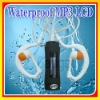 LCD Display 4GB Waterproof MP3 Player IPX8 for Swimming Water Sports FM Radio