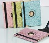 360 degree rotated leather sleeve for ipad2