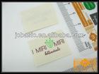 Fashion free design cotton printing label