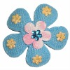Felt flower with rhinestone