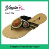 Flip flops with bead slipper designs